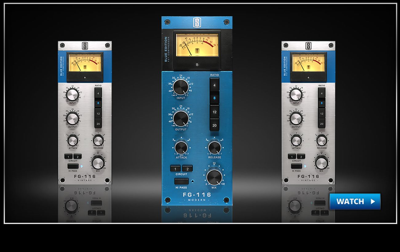 Fg 116 Blue Series Fet Compressors Slatedigital Electronic Difference Between Jfet And Mosfet Of The Classic Circuit With Vintage Modern Tones Clever Features Like Hi Pass Detection A Parallel Mix Knob Can Be