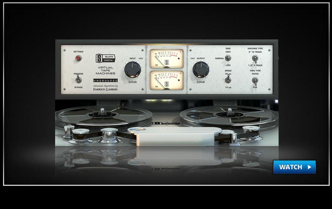 Slate digital virtual-tape-machine tape machine emulation software.